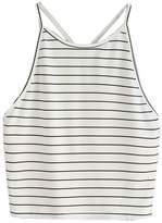 ANBOO Women Fashion Sexy Striped Tank Top Sleeveless T-Shirt Tops (S, )