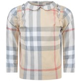 Burberry BurberryBaby Girls Pale Stone Check Belinda Top