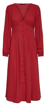 Dorothy Perkins Womens **Only Red Tile Print Swing Dress, Red