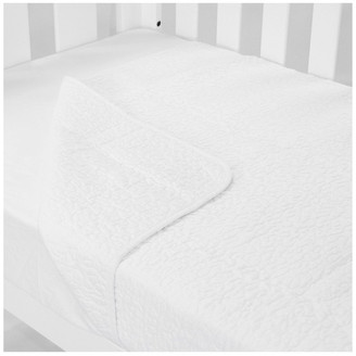 Babyhood Cot Quilt Coverlet Classic White