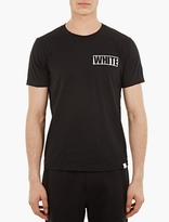 White Mountaineering Black Small Logo Print T-shirt