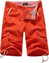 SSLR Men's Summer Cotton Cargo Shorts