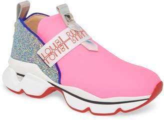 Christian Louboutin Lipsyrun Logo Strap Slip-On Platform Sneaker