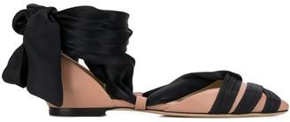 Jimmy Choo Louren ribbon ballerina shoes