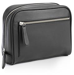 ROYCE New York Leather Toiletry Travel Bag