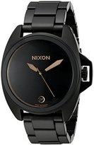 Nixon Men's 'Anthem' Quartz Metal and Stainless Steel Automatic Watch, Color:Black (Model: A396957-00)
