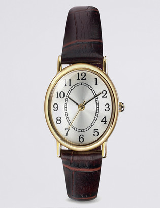 Marks and Spencer Oval Face Classic Strap Watch