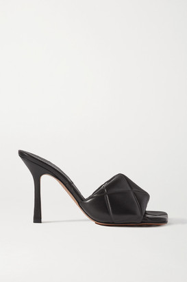 Bottega Veneta Quilted Leather Mules - Black