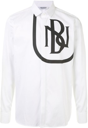 Neil Barrett Logo Print Button-Up Shirt