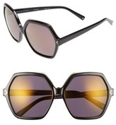 KENDALL + KYLIE Women's Ludlow 58Mm Sunglasses - Shiny Black/ Shiny Gold
