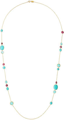 Ippolita 18K Rock Candy Long Station Necklace in Caribbean Blue