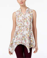 Cable & Gauge Printed Handkerchief-Hem Tunic