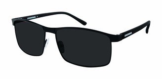 UNIONBAY U1010 Classic Metal Rectangular Sunglasses with 100% UV Protection