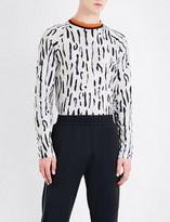 Wales Bonner Ebony cotton-jersey top