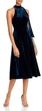 Black Halo Audrey Velvet High Neck Dress