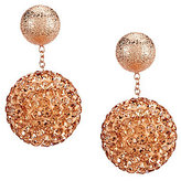 Cezanne Crystal Pave Ball Front/Back Drop Earrings