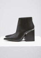 Marni Black / Silver Pointed Toe Ankle Boot