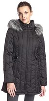 Nautica Women's Puffer Coat with Side Tabs