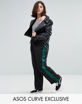 Asos Trackie With Double Stripe And Split Hem
