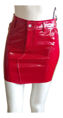 RtA Red Leather Skirts
