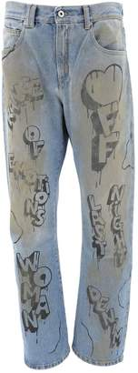 Off-White Off White Graffiti Logo Printed Jeans
