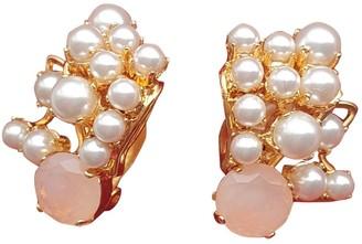 Philippe Ferrandis White Pearls Earrings