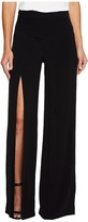 Nicole Miller Alex Satin One Leg Slit Pants