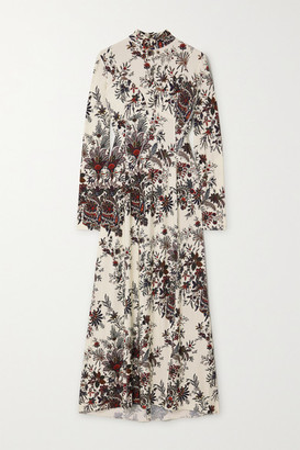 Paco Rabanne Paisley-print Stretch-jersey Turtleneck Midi Dress - Ivory