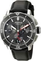 Alpina Men's AL-372LBG4V6 Seastrong Diver 300 Chronograph Big Date Analog Display Swiss Quartz Watch