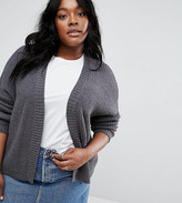 Asos Chunky Cardigan With Wide Sleeve