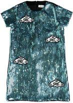 Au Jour Le Jour Clouds & Sky Sequin Milano Jersey Dress