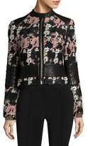 Yigal Azrouel Tree Embroidered Moto Jacket