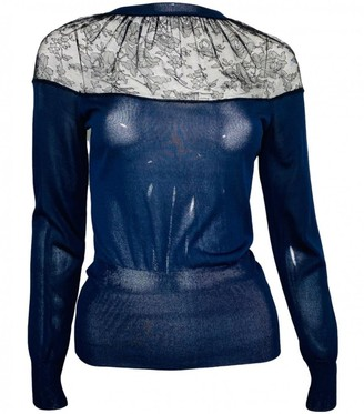 Nina Ricci Navy Silk Top for Women