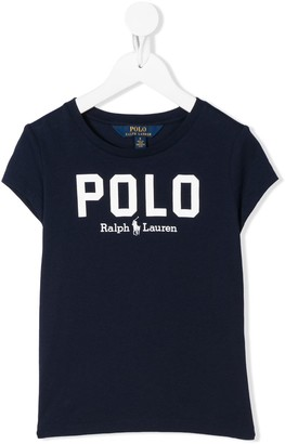Ralph Lauren Kids Polo printed logo T-shirt