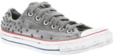 HTC Holywood Trading Company studded lo-top sneaker