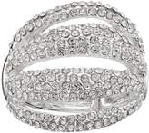 JLO by Jennifer Lopez Pave Multi Row Stretch Ring