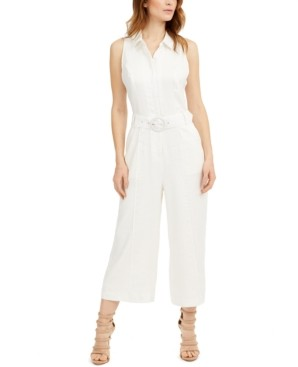 GUESS Ilaria Belted Linen Jumpsuit
