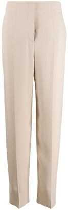 Giorgio Armani Silk Straight Leg Trousers