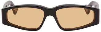Gucci Black Rectangular Sunglasses