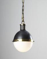 Thomas O'Brien Hicks 2-Light Large Bronze with Antiqued Brass Pendant