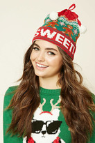 Forever 21 Sweet Holiday Graphic Beanie