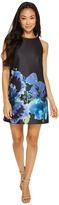 Tahari by Arthur S. Levine Petite Floral Print Trapeze Dress Women's Dress