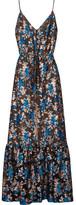 Lanvin Metallic Fil Coupé Gown - Blue