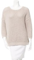Maje Evangeli Open Knit Sweater