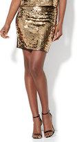 New York & Co. Goldtone Sequin Skirt