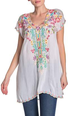 Johnny Was Petunia Floral Embroidered Tunic