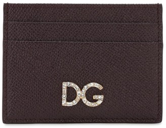 Dolce & Gabbana Leather Embellished Card Holder
