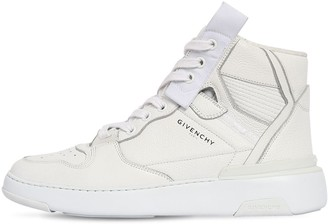 Givenchy 40mm Wing High Top Leather Sneakers