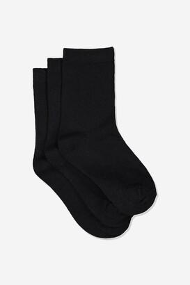 Cotton On Kids 3Pk Crew Sock