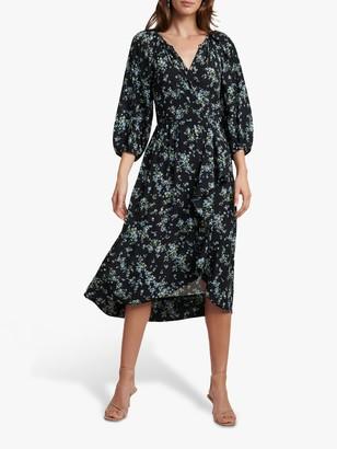 Forever New Maya Floral Midi Wrap Dress, Whisper Ditsy